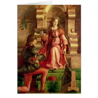Musique, c.1480 carte de vœux