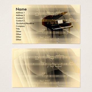 musique cartes de visite