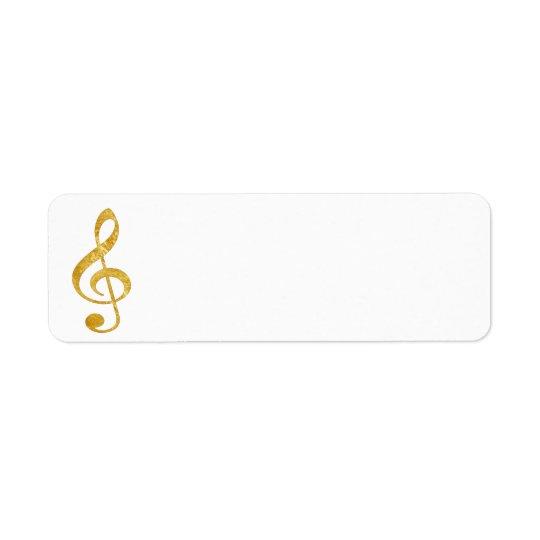 Musique CD de clef de regard de feuille d'or Étiquette D'adresse Retour