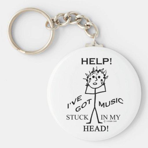 Musique coincée dans ma tête porte-clés