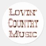 Musique country adhésif rond