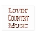 Musique country cartes postales