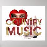 Musique country d'amour de la PIÈCE EN T I Affiche
