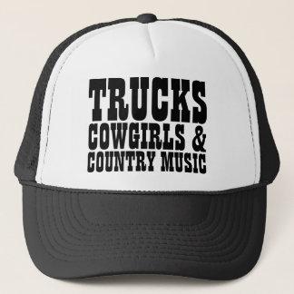 Musique country de cow-girls de camions casquette