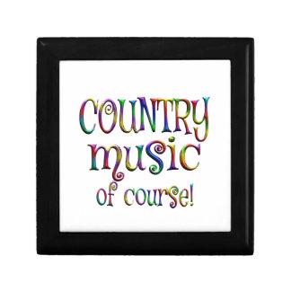 Musique country naturellement petite boîte à bijoux carrée