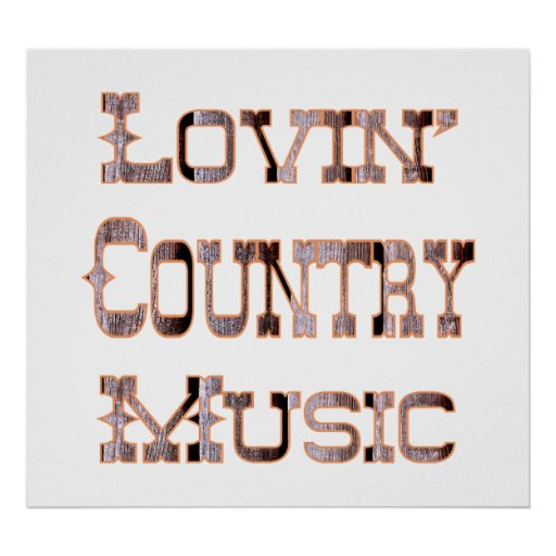 Musique country poster