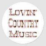 Musique country sticker rond