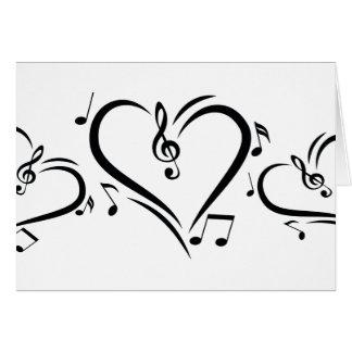 Musique d'amour de clef d'illustration cartes