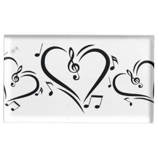 Musique d'amour de clef d'illustration porte-cartes de  table