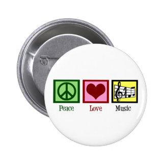 Musique d'amour de paix badges