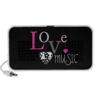 Musique d'amour haut-parleurs notebook