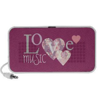 Musique d'amour haut-parleurs PC