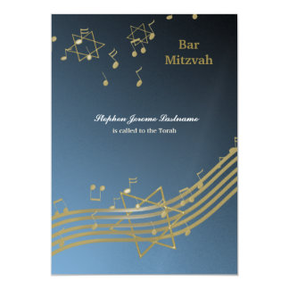 Musique dans le ciel carton d'invitation  12,7 cm x 17,78 cm