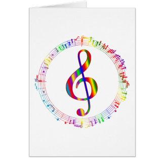 Musique dans le rond carte de vœux