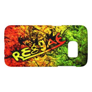 musique d'art de drapeau de graffiti de reggae de coque samsung galaxy s7