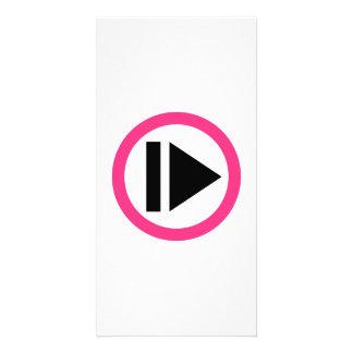 Musique de bouton de jeu photocarte personnalisée