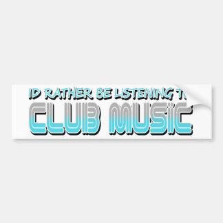 Musique de club autocollant pour voiture