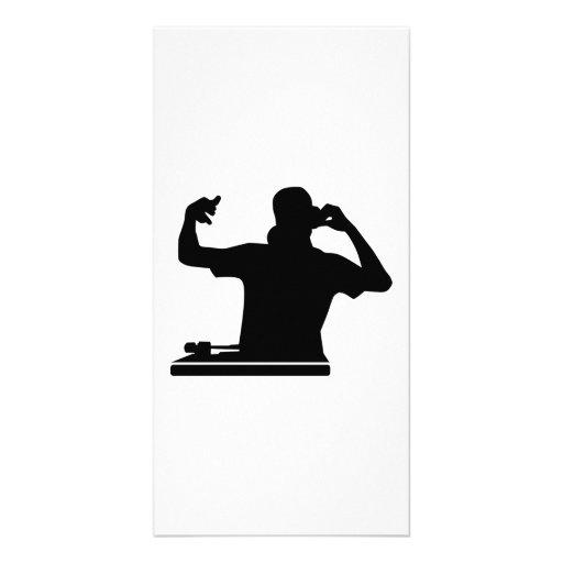 Musique de club de plaques tournantes du DJ Photocartes Personnalisées