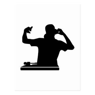 Musique de club de plaques tournantes du DJ Cartes Postales