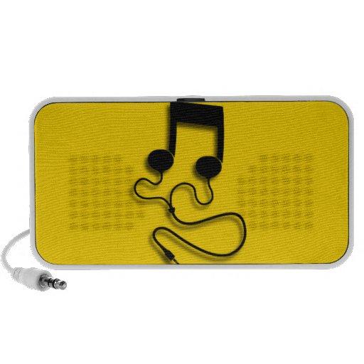 Musique de feuille avec des écouteurs d'écouteurs haut-parleurs iPhone