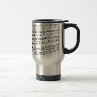 Musique de feuille mug de voyage