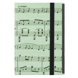 Musique de feuille verte étui iPad mini