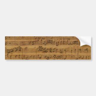 Musique de feuille vintage par Johann Sebastian Autocollant De Voiture