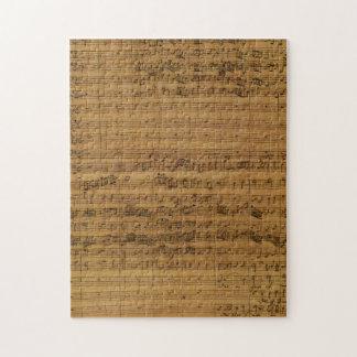 Musique de feuille vintage par Johann Sebastian Puzzle