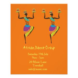 Musique de groupe et représentation africaines de prospectus 11,4 cm x 14,2 cm