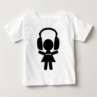 Musique de hip hop, écouteurs, amour de hip-hop t-shirt pour bébé