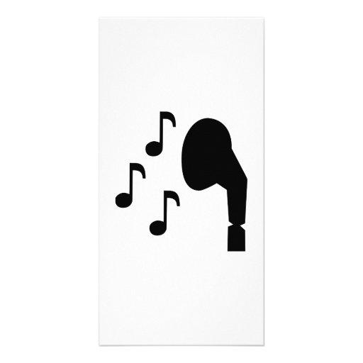 Musique de notes d'écouteurs modèle pour photocarte