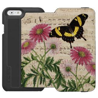 Musique de papillon de marguerite coque-portefeuille iPhone 6 incipio watson™