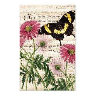 musique de papillon de marguerite papeterie