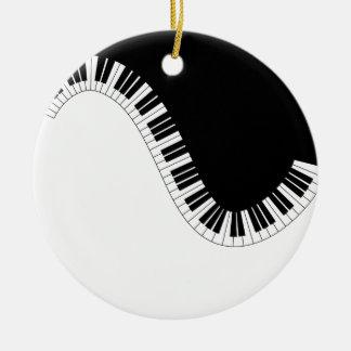 MUSIQUE DE PIANO ORNEMENT ROND EN CÉRAMIQUE