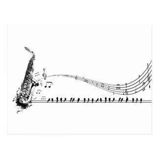 Musique de saxophone carte postale