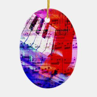 musique, décor de piano (11) ornement ovale en céramique