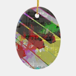 musique, décor de piano (1) ornement ovale en céramique