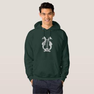 Musique d'hippocampe de monogramme veste à capuche