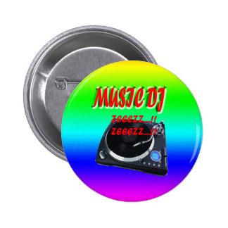 Musique DJ avec l'arrière - plan Pin's Avec Agrafe