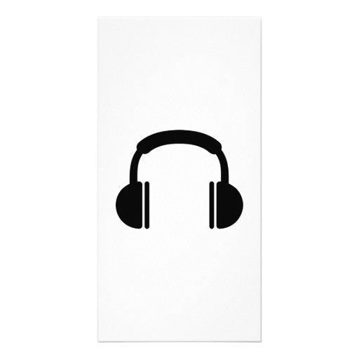 Musique DJ d'écouteurs Cartes Avec Photo