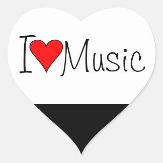 Musique du coeur I Sticker Cœur