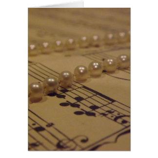 Musique et carte de perles