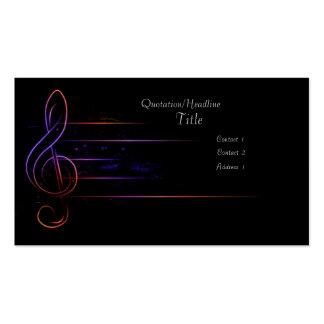 Cartes de visite originales pour musiciens et professionnels de la musique.