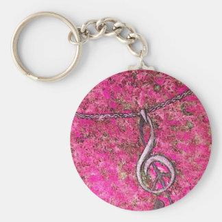 Musique et paix porte-clés