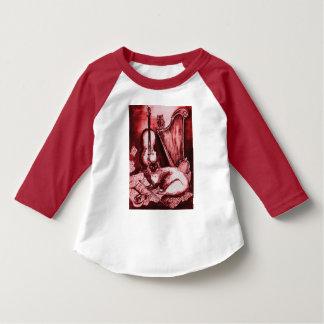 MUSIQUE FAISANT CAT, HIBOU, blanc rouge T-shirt