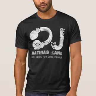 musique fraîche noire et blanche DJ T-shirt