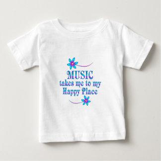 Musique mon endroit heureux t-shirt pour bébé
