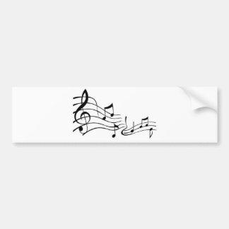 Musique (Music) Autocollant De Voiture