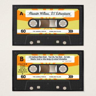 Musique orange/jaune DJ d'enregistreur à cassettes Cartes De Visite