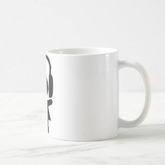 Musique pop d écouteurs tasse à café
